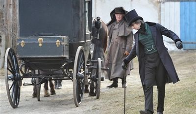 British rock musician Pete Doherty, left, in the role of Octave, during filming  of the movie 'Confession of a Child of the Century' , directed by Sylvie Verheyde and based on Alfred de Musset's novel, in Suenching near Regensburg, Germany, Thursday March 10, 2011. (AP Photo/dapd/ Lennart Preiss)