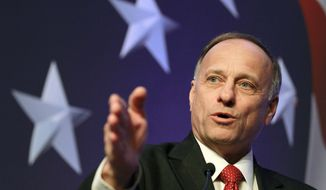 "MAKING CUTS: ""There is a growing group of resisters in the House saying, 'I'm not going to bite this every two weeks,'"" said Rep. Steve King. (Associated Press)"