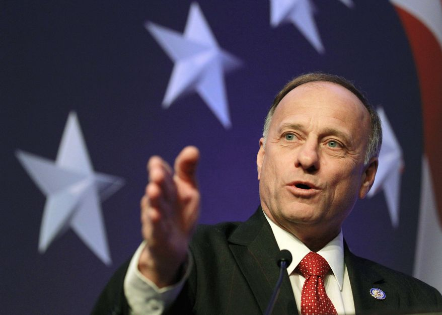 """MAKING CUTS: """"There is a growing group of resisters in the House saying, 'I'm not going to bite this every two weeks,'"""" said Rep. Steve King. (Associated Press)"""