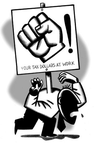 Illustration: Unions by Alexander Hunter for The Washington Times