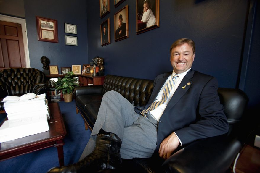 Rep. Dean Heller, Nevada Republican, announced a long-expected U.S. Senate bid Tuesday. He easily won re-election to a third House term in November. (Associated Press)