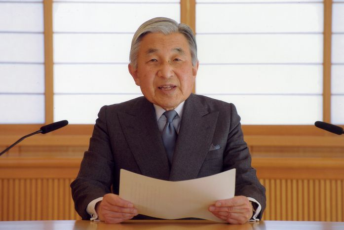 Emperor Akihito tried to calm the nerves of his nation's people during a televised address on Wednesday. He expressed his condolences to those who have suffered since the earthquake and tsunami and urged them not to give up. (Associated Press)