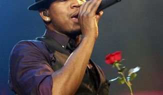 FILE - In this Jan. 22, 2011 file photo, U.S. singer Ne-Yo performs during his concert in Jakarta, Indonesia. (AP Photo/Achmad Ibrahim, file)