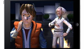Famed time travelers Marty McFly and Doc Brown return on Apple's iPad in Back to the Future: The Game.