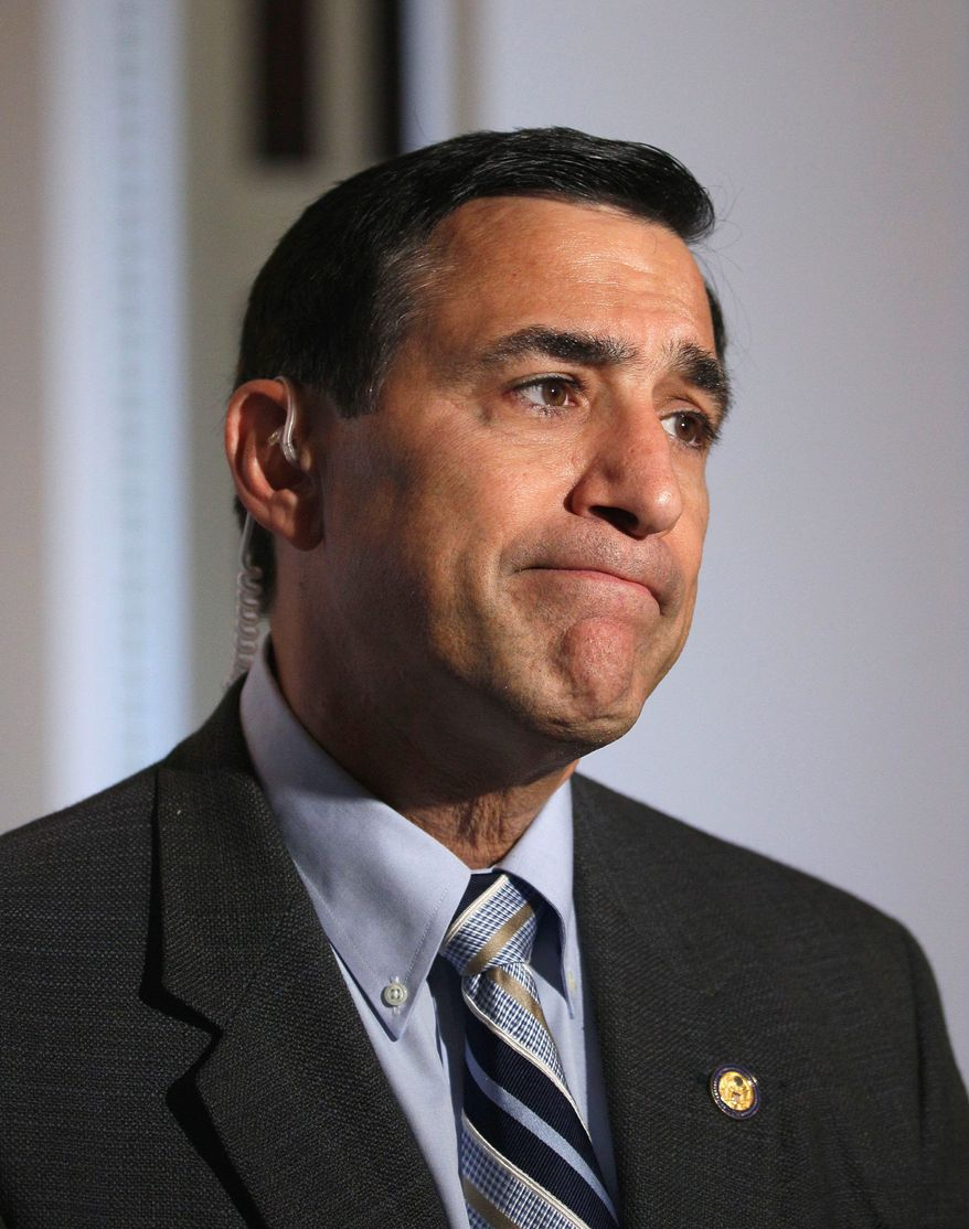 Rep. Darrell Issa says a committee he heads will look into claims of cash payoffs made during D.C. Mayor Vincent C. Gray's campaign. (Associated Press)