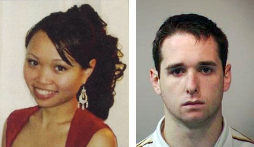 Raymond Clark III (right), a former animal research technician at Yale University, pleaded guilty on Thursday, March 17, 2011, to the murder and sexual assault of Yale graduate student Annie Le (left) in 2009. (AP Photo)