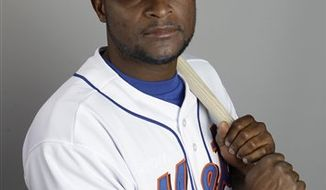 FILE - This Feb. 24, 2011, file photo shows New York Mets baseball player Luis Castillo. The Mets released second baseman Luis Castillo, although he is owed $6 million this year. General manager Sandy Alderson informed Castillo of the decision Friday morning, March 18, 2011,  with approval from Mets owner Jeff Wilpon. (AP Photo/Lynne Sladky, File)