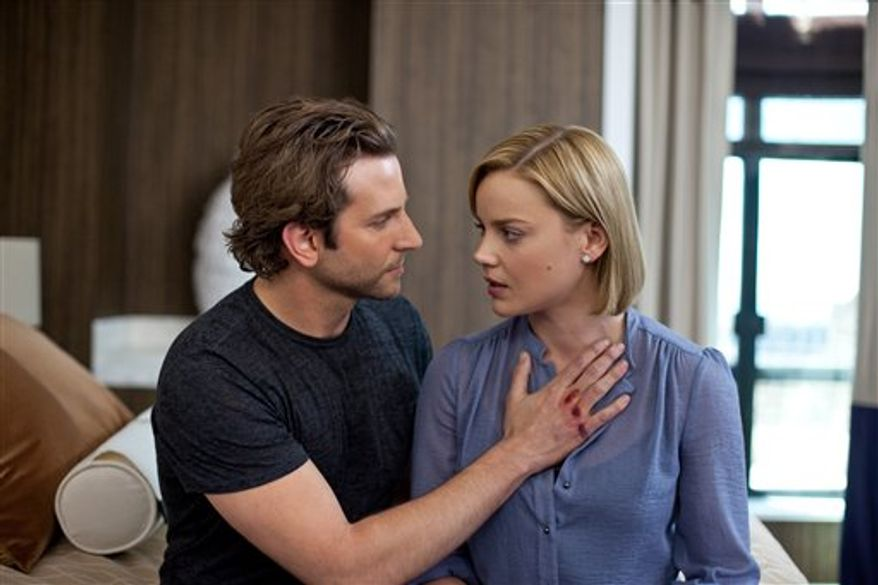 "In this film publicity image released by Relativity Media, Bradley Cooper, left, and Abbie Cornish are shown in a scene from ""Limitless."" (AP Photo/Relativity Media, John Baer)"