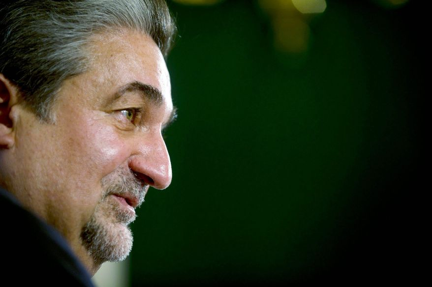 Ted Leonsis, owner of the Washington Wizards and Capitals, has high expectations for both of his teams. So far, the Caps have been close to the top a couple of times and are in good position this year; and, he says, the Wizards are heading in the right direction. (Rod Lamkey Jr./The Washington Times)