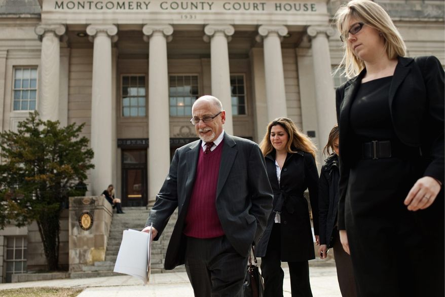 Public defender Alan Drew is representing Brittany Norwood. (Drew Angerer/The Washington Times)