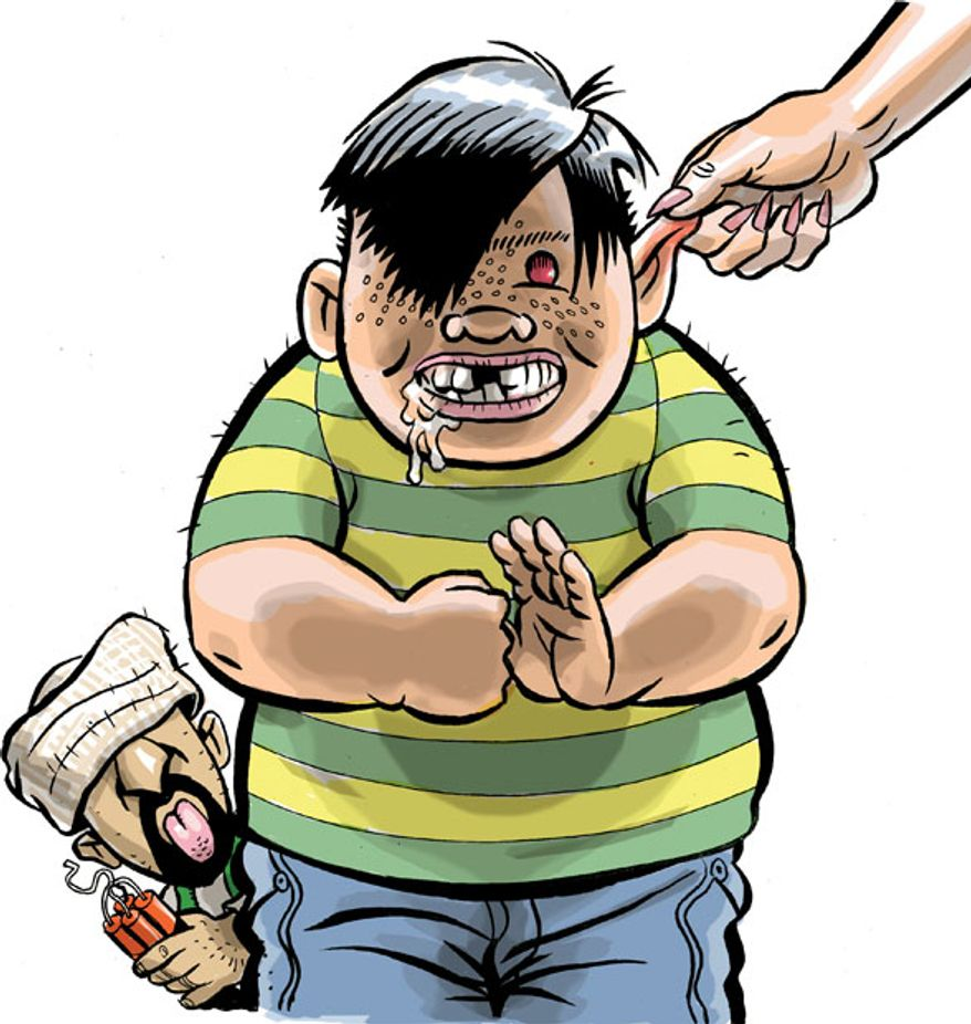 Illustration: Bullies by Alexander Hunter for The Washington Times