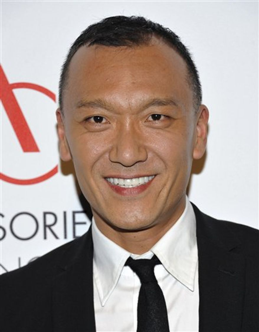 """FILE-  This Nov. 1, 2010 file photo shows Joe Zee as he attends the 14th Annual ACE Awards presented by the Accessories Council at Cipriani 42nd Street in New York. The fashion world might always be looking for the next big thing, but some of its players make the same mistakes time and time again. On his new show, Joe Zee, creative director of Elle and host of Sundance Channel's """"All on the Line,"""" tries to right their wrongs.   (AP Photo/Evan Agostini, FILE)"""