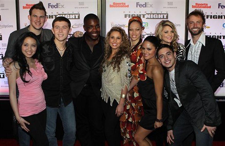 American Idol's Top 10 singers perform during Muhammad Ali Celebrity Fight Night XVII on Saturday March. 19, 2011, in Phoenix. (AP Photo/Darryl Webb)