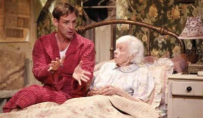 """In this undated theater publicity image released by Richard Kornberg and Associates, Helen Stenborg is shown in a scene from Morris Panych's """"Vigil,"""" in New York. Stenborg, a Tony-nominated stage, film and TV actress who was the wife of the late Tony Award-winning actor Barnard Hughes and mother of the Tony Award-winning director Doug Hughes, has died. She was 86. (AP Photo/Richard Kornberg and Associates, Carol Rosegg)"""