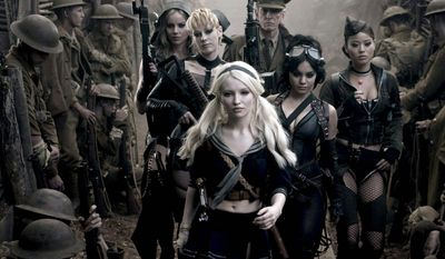 "Emily Browning's Babydoll (center) leads a band of institutionalized young women who craft and inhabit an elaborate fantasy world in director Zack Snyder's ""Sucker Punch."""