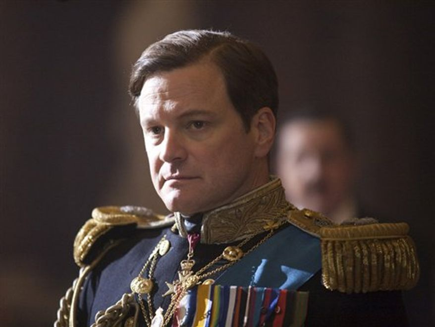 "In this film publicity image released by The Weinstein Company, Colin Firth portrays King George VI in ""The King's Speech.""  (AP Photo/The Weinstein Company, Laurie Sparham)"