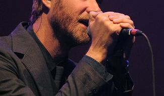 FILE - In this May 21, 2010 file photo, Matt Berninger of The National performs during their concert in Los Angeles. (AP Photo/Chris Pizzello, file)