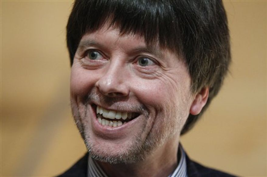 Documentary filmmaker Ken Burns is seen during a news conference Friday, March 25, 2011, at the National Constitution Center in Philadelphia.  Burns' and Lynn Novick's upcoming documentary film series Prohibition is scheduled to premiere this fall on public television.  (AP Photo/Matt Rourke)