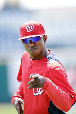 Todd Anderson/Special to The Washington Times The Washington Nationals on Sunday dealt center fielder Nyjer Morgan to Milwaukee for a minor league infielder with a well-known surname.