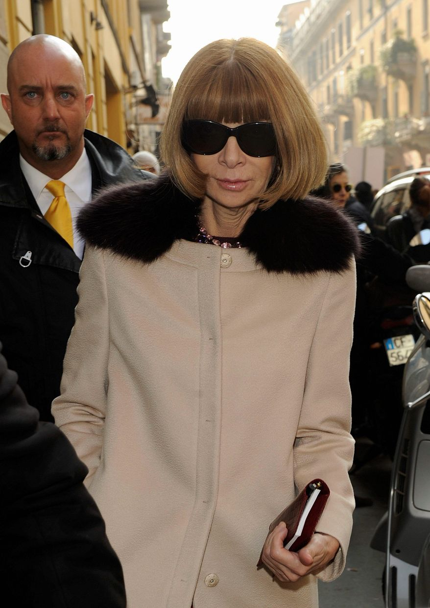 Anna Wintour, editor-in-chief of Vogue, says she's not giving up her influential position. (Associated Press)
