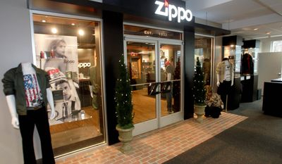 ASSOCIATED PRESS A model store for Zippo products is on display at the headquarters of the Zippo Manufacturing Co. in Bradford, Pa. With pressure increasing on folks not to smoke, Zippo Manufacturing Co. is hoping to capitalize on its brand by offering a wider variety of products - from watches to leisure clothing to cologne - through kiosks and Zippo-brand specialty stores.