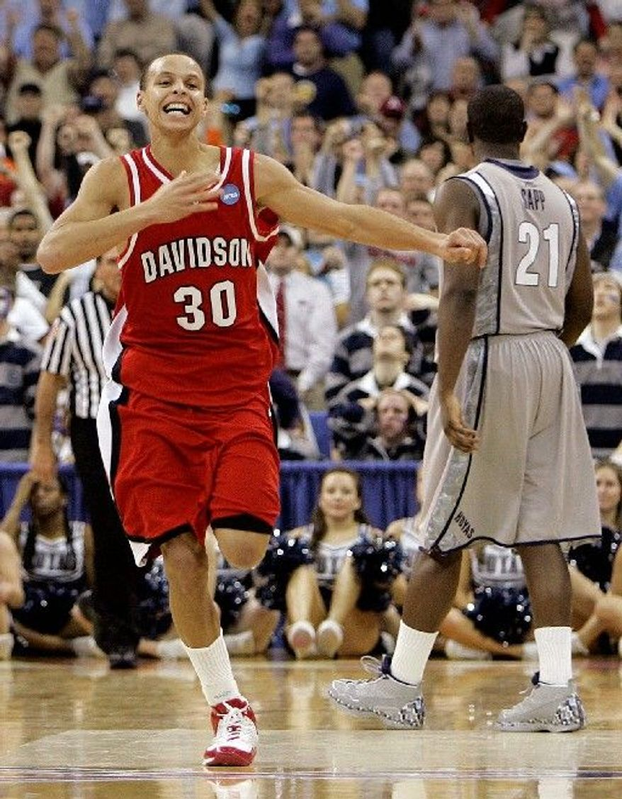 Davidson guard Stephen Curry, 2008 Elite Eight