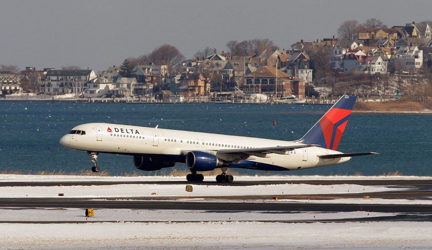 A Delta Air Lines jet takes off from Boston's Logan International Airport. United and Continental airlines started the push for another fare increase last week and were joined by Delta, American and US Airways. But low-cost airlines didn't go along. By Monday morning, US Airways was the only one of the major airlines that still had the higher fares. (AP Photo)