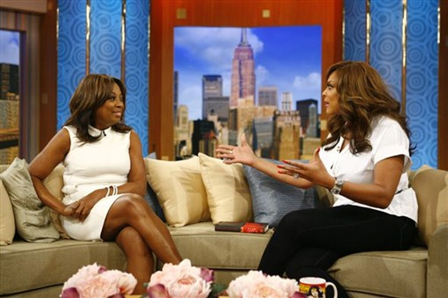"""In this March 24, 2011 publicity image released by The Wendy Williams Show, Star Jones, former co-host on the ABC daytime talk show """"The View"""" and current contestant on NBC's """"The Celebrity Apprentice,"""" appears with host Wendy Williams on """"The Wendy Williams Show,"""" in New York. The program will air on Friday. (AP Photo/The Wendy Williams Show, Anders Krusberg)"""