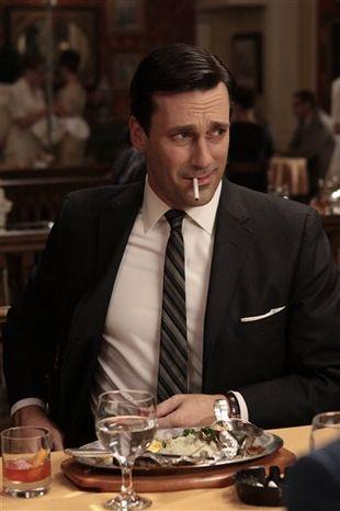 "Jon Hamm portrays advertising executive Don Draper in the AMC series ""Mad Men."" (AP Photo/AMC)"