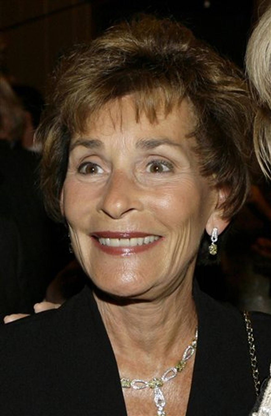 "FILE - In this April 18, 2007 file photo, Judge Judy Sheindlin is shown at a party held by CNN celebrating Larry King's fifty years of broadcasting in New York. TV's ""Judge Judy"" is hospitalized in Los Angeles for an undisclosed condition. A spokesman for 68-year-old Judy Sheindlin says the judge is ""feeling much better"" after being taken from her show taping by ambulance to Cedars-Sinai Medical Center on Wednesday, March 30, 2011.( AP Photo/Stuart Ramson, File)"
