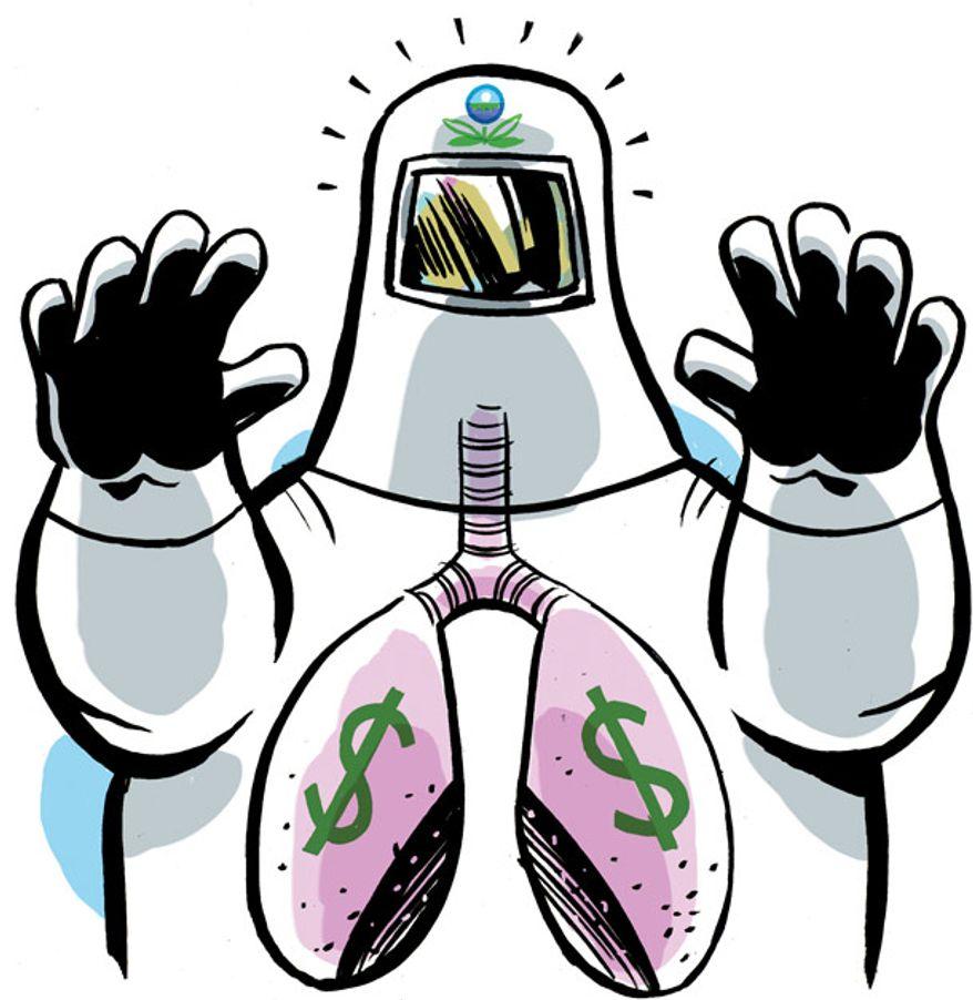 Illustration: EPA by Alexander Hunter for The Washington Times
