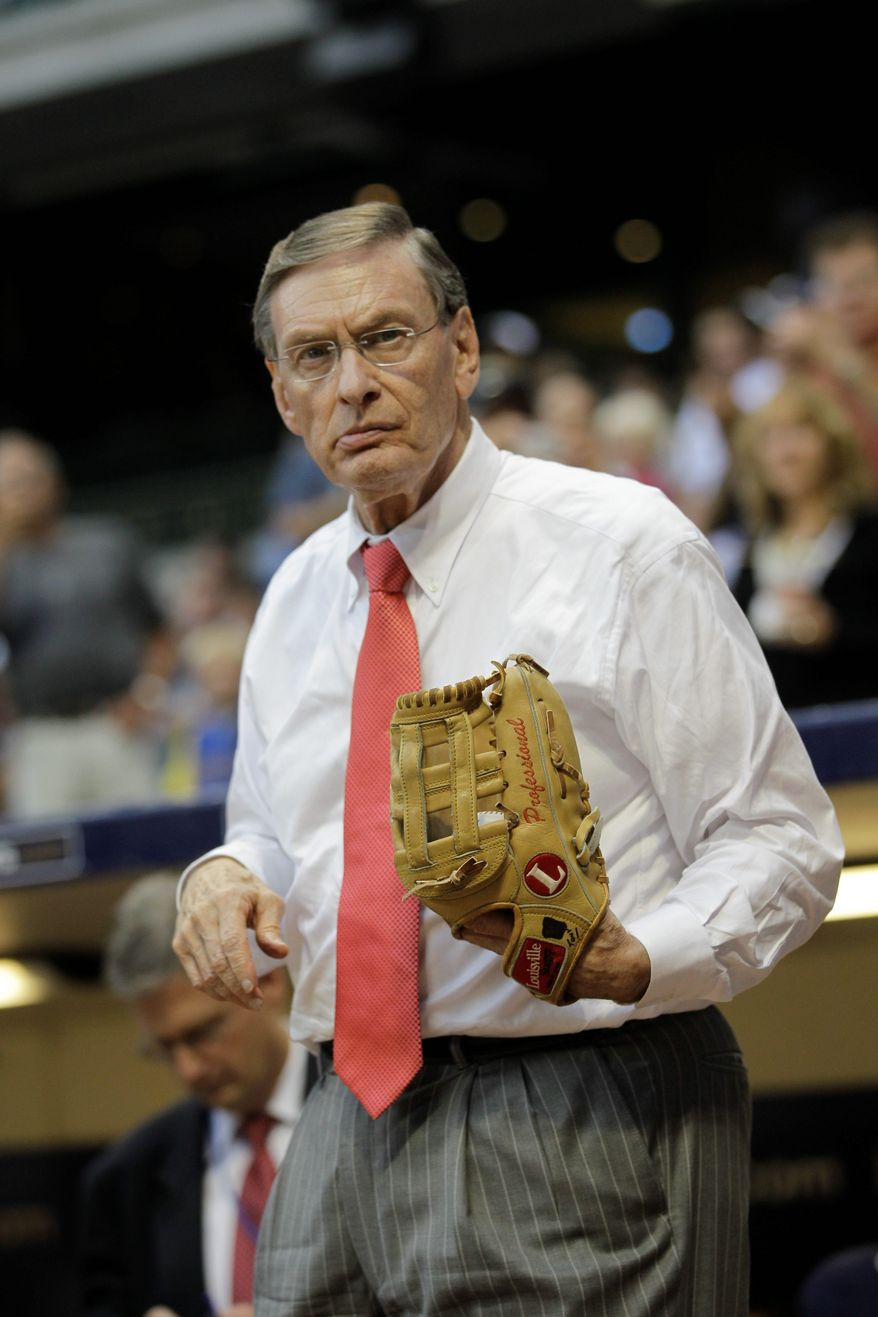 "MLB Commissioner Bud Selig was told by health officials in 15 cities that baseball should not associate itself with smokeless tobacco, ""a product that causes disease and death."" (Associated Press)"