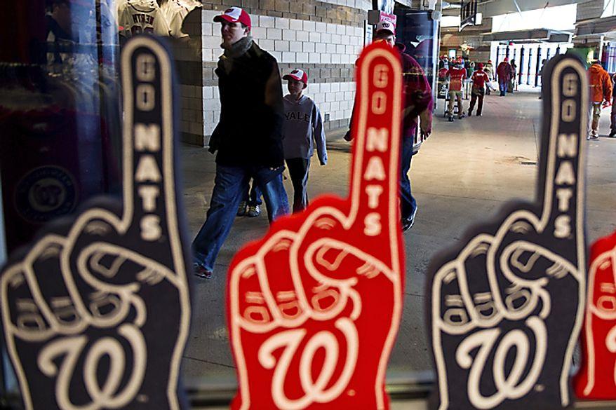 Fans enter Nationals Park (Drew Angerer/The Washington Times)