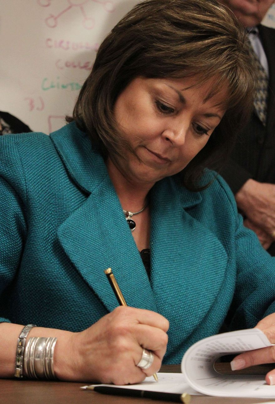 ** FILE ** Gov. Susana Martinez in Albuquerque, N.M., on Wednesday, March 30, 2011. (AP Photo/Susan Montoya Bryan)