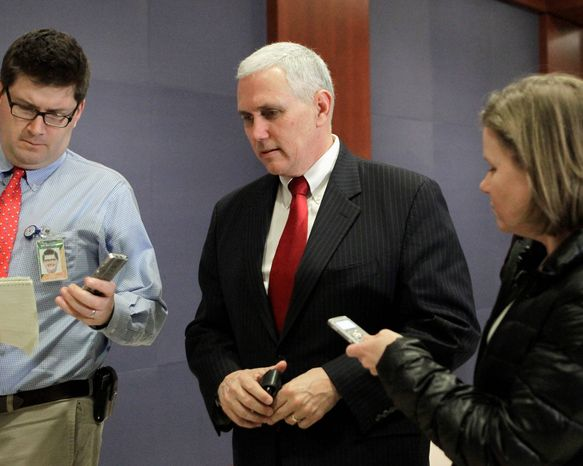 """Rep. Mike Pence, Indiana Republican, will join the Tea Party Patriots' """"Continuing Revolution"""" rally near the U.S. Capitol on Thursday."""