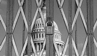 Illustration: Shuttered Congress