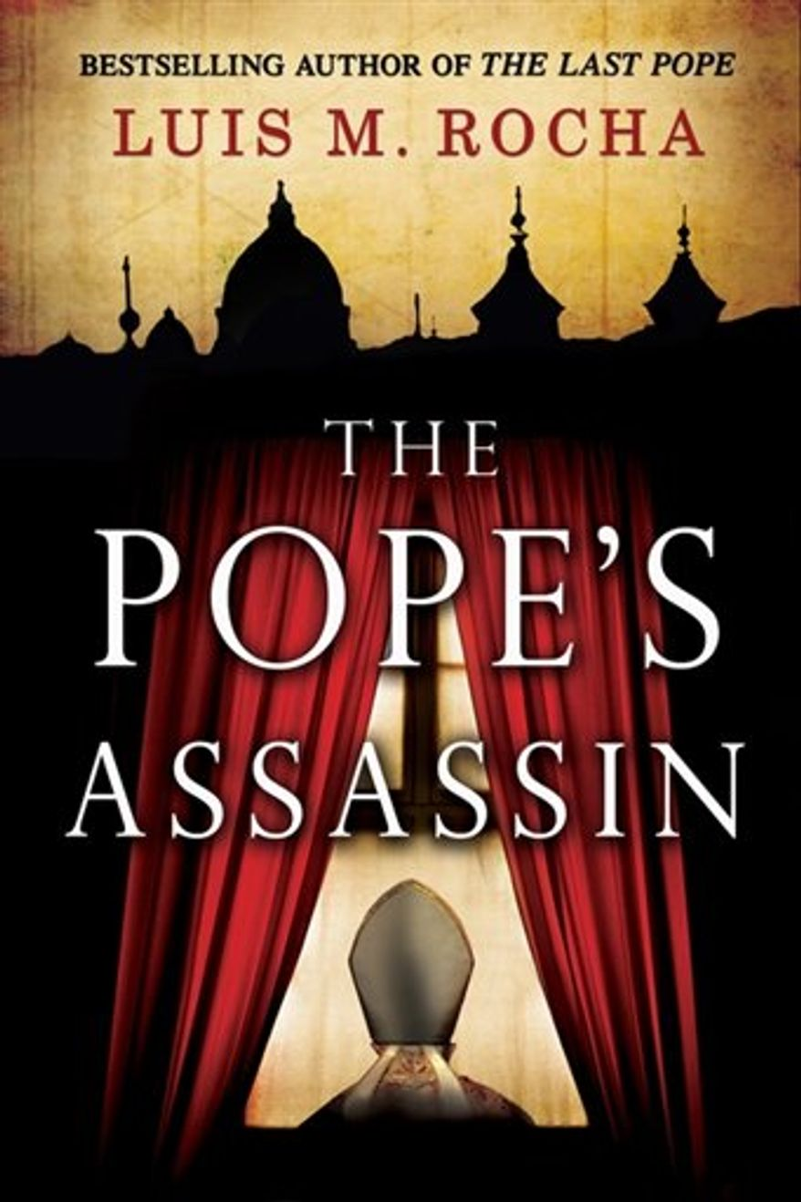 "In this book cover image released by G. P. Putnam's Sons, ""The Pope's Assassin,"" by Luis M. Rocha, is shown. (AP Photo/G. P. Putnam's Sons)"