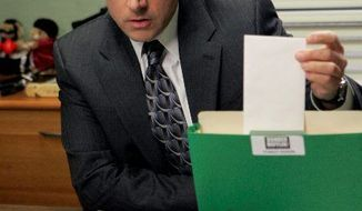 Steve Carell plays the role of Michael Scott like the ad-libbing comedian he is. (NBC)