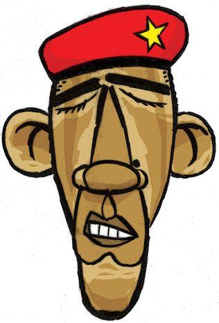 Illustration: Socialist Obama by Alexander Hunter for The Washington Times