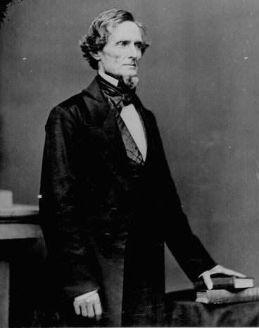 """A Harris Poll found less than a third thought a """"mock swearing-in featuring Jefferson Davis"""" was appropriate for commemorating the Civil War. (National Archives via Associated Press)"""