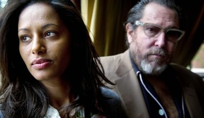 """If Arab people see a Jewish person can do this, they might think, 'Maybe there's somebody on the other side we can talk to,'"" director Julian Schnabel has said of his new film ""Miral."" Based on a work by Rula Jebreal (left), it looks at Israeli treatment of Palestinians through the eyes of Palestinians. (Rod Lamkey Jr./The Washington Times)"