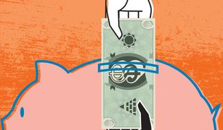 Illustration: Planned Parenthood and government funding by Linas Garsys for The Washington Times