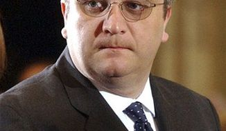 FILE - In this April 3, 2005 file photo, Belgium's Prince Laurent attends a memorial Mass for Pope John Paul II at the St. Michael church in Brussels. The once-placid Belgian monarchy has turned into a web of intrigue and scandal just as its future is being questioned openly. King Albert II wrath was provoked when Prince Laurent visited Congo, Belgium's former colony, against the wishes of both king and government. (AP Photo/Virginia Mayo, file)