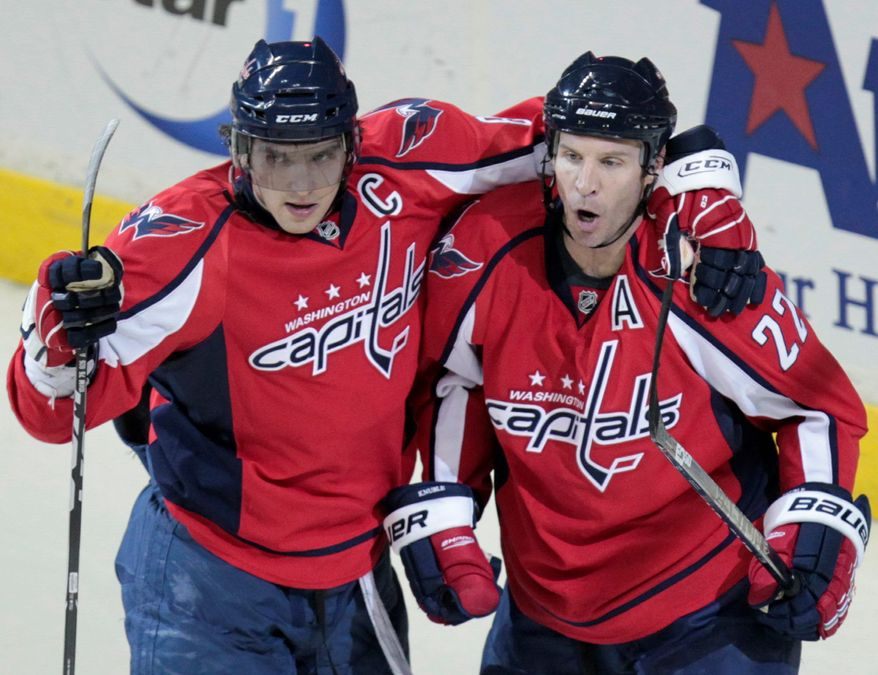 """""""[Ovechkin] playing well. He's arguably the best player in the world. It's a big stage in Toronto, of course he's gonna rise. If he got a break or two, he could've had three or four,"""" says Capitals' winger Mike Knuble."""