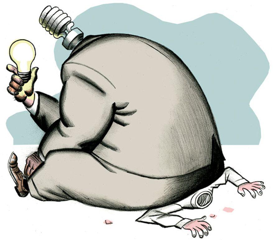 Illustration: Free market by Alexander Hunter for The Washington Times