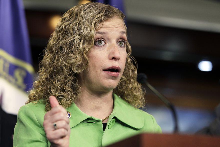 DNC chairman Rep. Debbie Wasserman Schultz. (Associated Press) ** FILE **