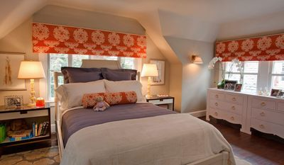 "The ""secret garden"" bedroom was transformed from an office by Samantha Friedman of Samantha Friedman Interior Designs."