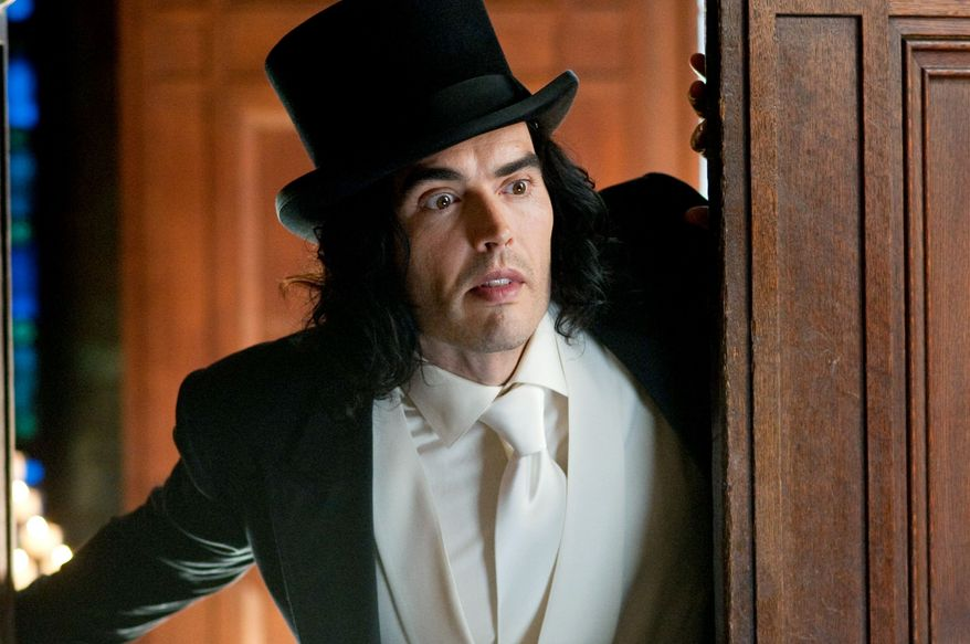 """Russell Brand portrays a booze-soaked playboy and heir of the family fortune in """"Arthur."""" (Associated Press)"""