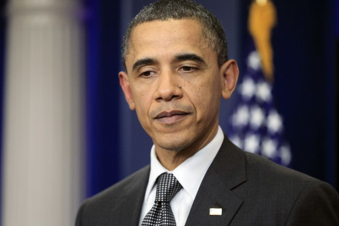 President Obama speaks to reporters at the White House in Washington on Wednesday, April 6, 2011, after meeting with House Speaker John A. Boehner and Senate Majority Leader Harry Reid regarding the budget and the possible government shutdown. (AP Photo/Charles Dharapak)