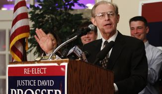 **FILE** Wisconsin Supreme Court Justice David Prosser (Associated Press)